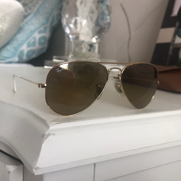 fd664f72a Ray-Ban Accessories | Rayban Gold Gradient Aviator Sunglasses | Poshmark